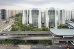 Estación de tren del carril de la luz de Singapur Imagen de archivo libre de regalías