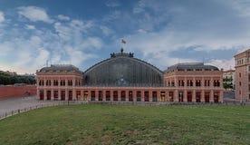 Estación de tren del carril de Madrid Foto de archivo