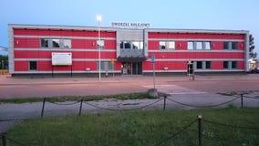 Estación de tren del 'dowo/Dzialdowo del dziaÅ de Dworzec Kolejowy Fotografía de archivo libre de regalías