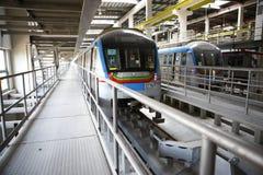 Estación de tren del metro Fotografía de archivo libre de regalías