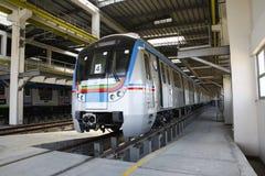 Estación de tren del metro Fotografía de archivo