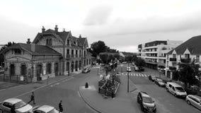Estación de tren del santo-Gratien en Francia almacen de metraje de vídeo