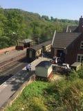 Estación de tren del valle de Churnet, para los ferrocarriles del vapor fotografía de archivo libre de regalías