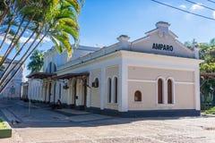 Estación de tren en Amparo fotografía de archivo