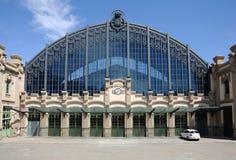 Estación de tren en Barcelona Fotografía de archivo