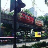 Estación de tren en el kilolitro Malasia Fotos de archivo