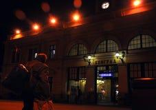 Estación de tren en Europa Oriental Foto de archivo libre de regalías