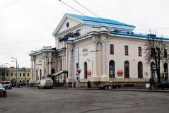 Estación de tren en la capital de la ciudad de Lituania Vilna Fotos de archivo libres de regalías
