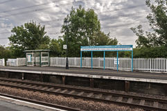 Estación de tren en LLanfairpg imagen de archivo libre de regalías