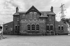 Estación de tren en LLanfairpg fotografía de archivo libre de regalías