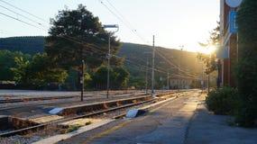 Estación de tren en Magione, Umbría, Italia imagenes de archivo