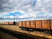 Estación de tren en Mongolia Foto de archivo