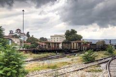 Estación de tren en Volos, Grecia Imagen de archivo libre de regalías