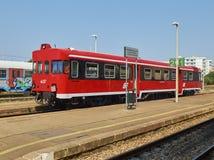 Estación de tren FSE, Ferrovie del Sud Est Gallipoli, Puglia, Italia Foto de archivo libre de regalías