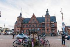 Estación de tren de Helsingoer en Dinamarca fotos de archivo libres de regalías