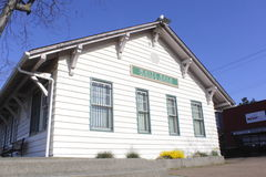 Estación de tren histórica Imagen de archivo libre de regalías