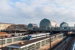 Estación de tren de Hoje Taastrup fotos de archivo
