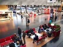 Estación de tren interior de Gare de l'Est París Foto de archivo