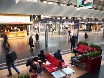 Estación de tren interior de Gare de París-Est Foto de archivo libre de regalías