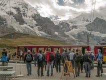 Estación de tren Interlaken Foto de archivo libre de regalías