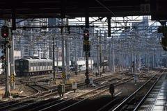 Estación de tren japonesa Hakata en Fukuoka foto de archivo libre de regalías