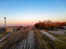 Estación de tren de Klaipeda Fotos de archivo