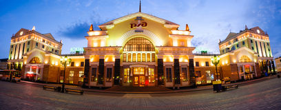 Estación de tren, Krasnoyarsk imágenes de archivo libres de regalías