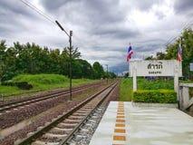 Estación de tren local fotos de archivo libres de regalías