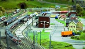 Estación de tren miniatura Foto de archivo libre de regalías