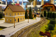 Estación de tren miniatura imagen de archivo