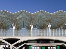 Estación de tren moderna Fotografía de archivo libre de regalías