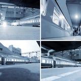 Estación de tren (multi-correspondencia) Foto de archivo libre de regalías
