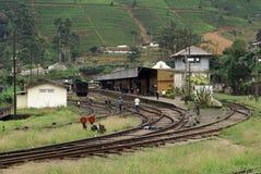 Estación de tren Nanu Oya Foto de archivo