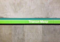 Estación de Trianon-Masp Imágenes de archivo libres de regalías