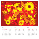 Estación de verano - calendario del concepto Fotografía de archivo