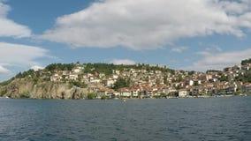 Estación de verano de Ohrid Macedonia almacen de video