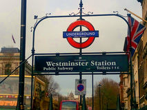 Estación de Westminster Fotos de archivo libres de regalías