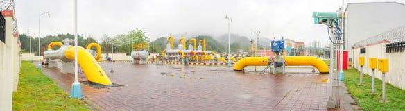 Estación del aceite/del gaseoducto fotos de archivo