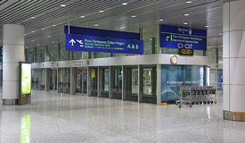 Estación del aerotren en el aeropuerto de Kuala Lumpur, Malasia Imágenes de archivo libres de regalías