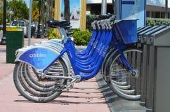 Estación del alquiler de la bici de Miami Beach Imágenes de archivo libres de regalías