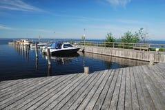 Estación del barco en la isla de Manamansalo, Finlandia Imágenes de archivo libres de regalías