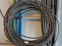 Estación del cable óptico Foto de archivo libre de regalías