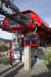 Estación del cablecarril de Teleferico de una línea roja La Paz, Bolivia Imagenes de archivo