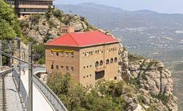 Estación del cablecarril Montserrat-Aeri Fotos de archivo