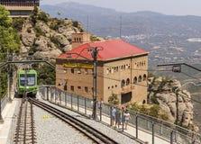 Estación del cablecarril Montserrat-Aeri Fotografía de archivo libre de regalías