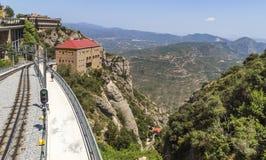 Estación del cablecarril Montserrat-Aeri Imagen de archivo
