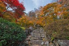 Estación del color del otoño alrededor de Josen-ji Fotografía de archivo libre de regalías