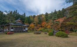 Estación del color del otoño alrededor de Josen-ji Fotografía de archivo