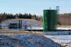 Estación del compresor de gas Foto de archivo