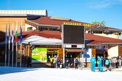 Estación del esquí de Bansko, elevación del teleférico, Bulgaria Imagen de archivo